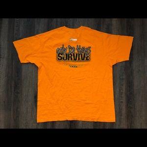 VTG WWF TAZZ T SHIRT XL WWF Wrestling ECW Orange